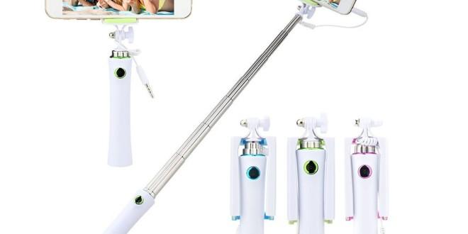 Kvalitní a lehká selfie tyč s tlačítkem, držák do auta nebo bezdrátová nabíječka pro váš mobilní telefon