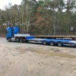 Nadměrná přeprava Tahač Volvo a osý podvalník Maxtraile