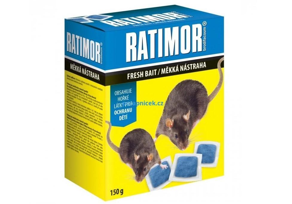 Ratimor měkká nástraha g Jed na potkany a myši s brodifakem