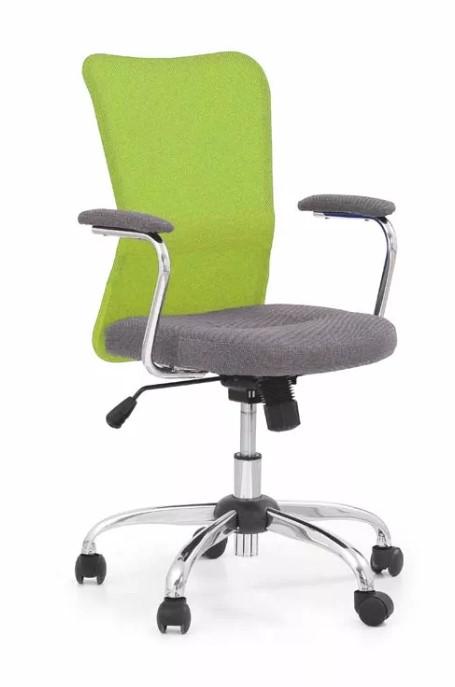 Dětská židle ANDY šedá limetka